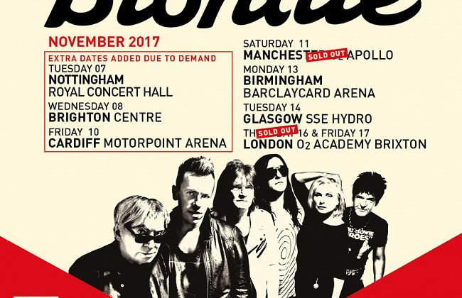 NEW DATES ADDED TO BLONDIE 2017 TOUR